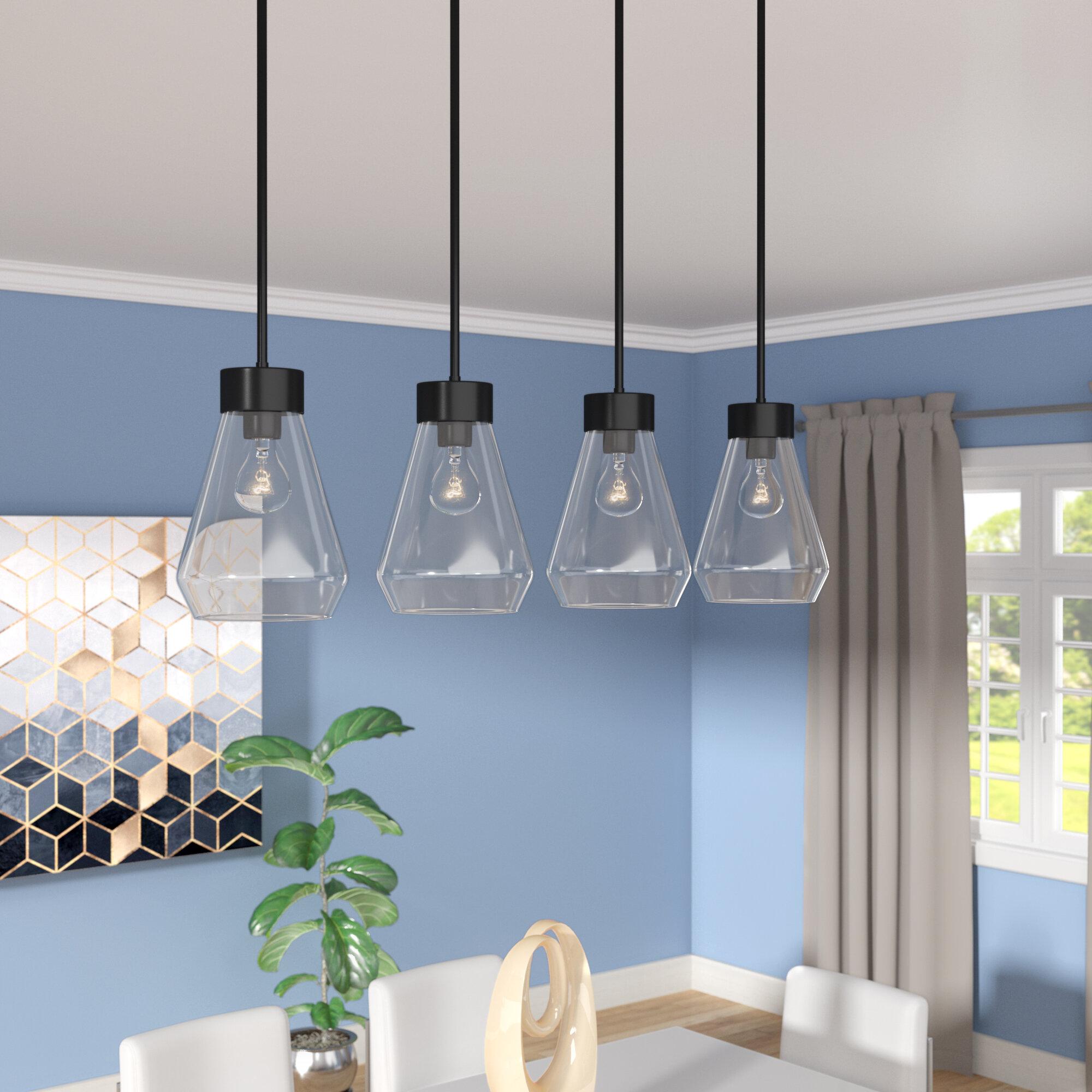 Brayden Studio Daniell 4 Light Kitchen Island Linear Pendant Reviews Wayfair
