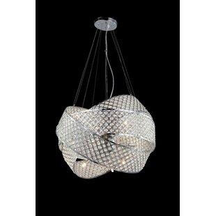 Rejtano 9-Light Geometric Chandelier by Orren Ellis