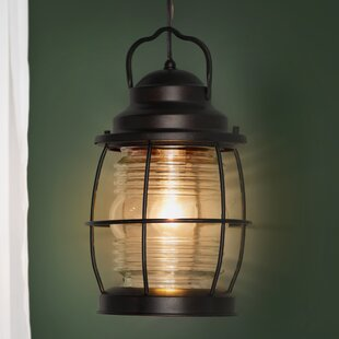 Ambrosia 1-Light Outdoor Hanging Lantern by Three Posts