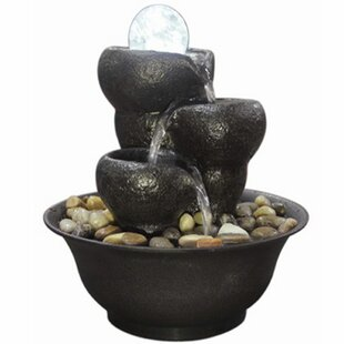 Tignall Resin Cascade Fountain With Light By Sol 72 Outdoor