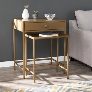 Yatesville 2 Pieces Nesting Table by Everly Quinn