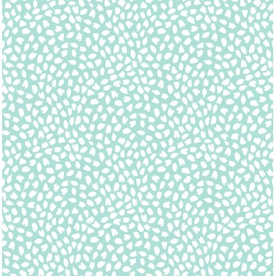 Latitude Run Heloise Confetti 32.81' L x 20.5 W Wallpaper Roll Color: Teal