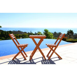 Altenwald Eucalyptus 3 Piece Folding Dining Set