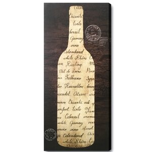 Wine Love Textual Art on Plaque