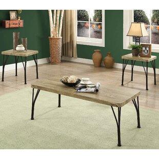 Gracie Oaks Habandi Industrial Style 3 Piece Coffee Table Set
