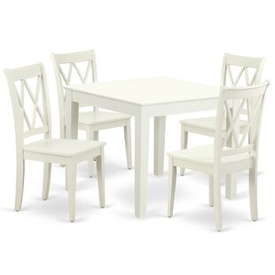Kropp 5 Piece Solid Wood Dining Set New