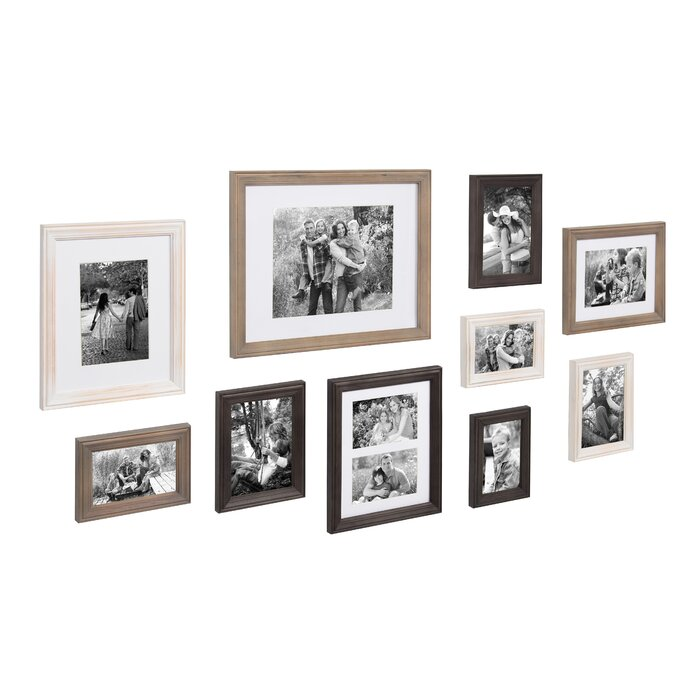 Gracie Oaks Kate and Laurel Bordeaux Gallery Wall Kit, Set of 10 ...