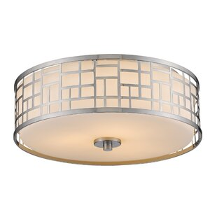 Bloomsbury Market Hummer 3-Light Flush Mount