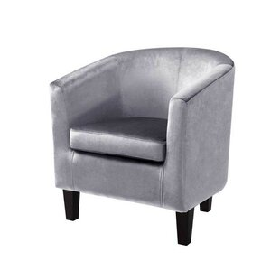 CorLiving Velvet Barrel Chair