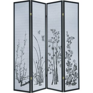 Luann 4 Panel Room Divider by World Menagerie