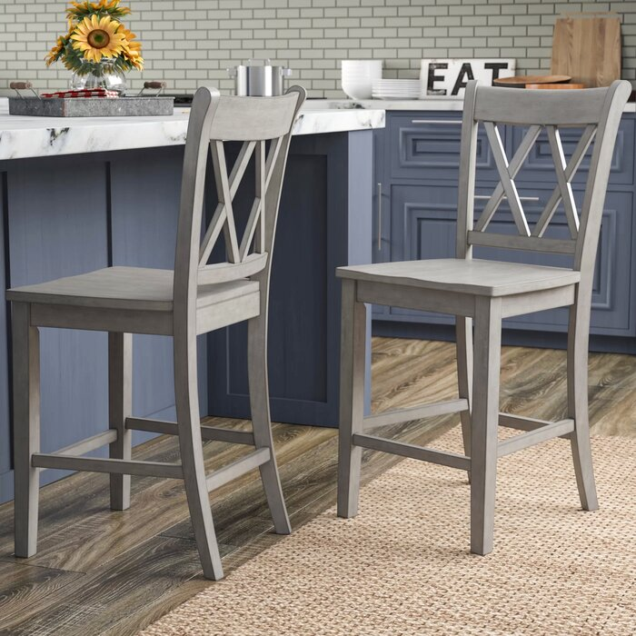 Excellent Bromborough Double X Back 24 Bar Stool Inzonedesignstudio Interior Chair Design Inzonedesignstudiocom