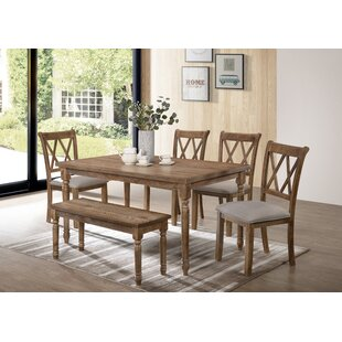 Bedlington 6 Piece Dining Set by Gracie O..