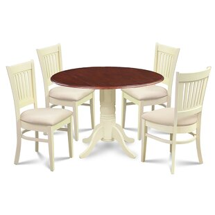 August Grove Beri 5 Piece Drop Leaf Dining Set