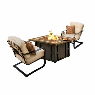 Kirkpatrick 3 Piece Conversation Set with Cushions