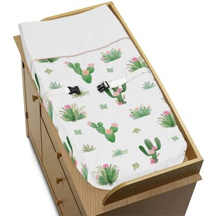 Reviews Cactus Floral Changing Pad Cover BySweet Jojo Designs