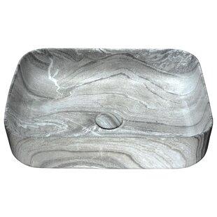 Best Marbled Series Vitreous China Rectangular Vessel Bathroom Sink ByANZZI