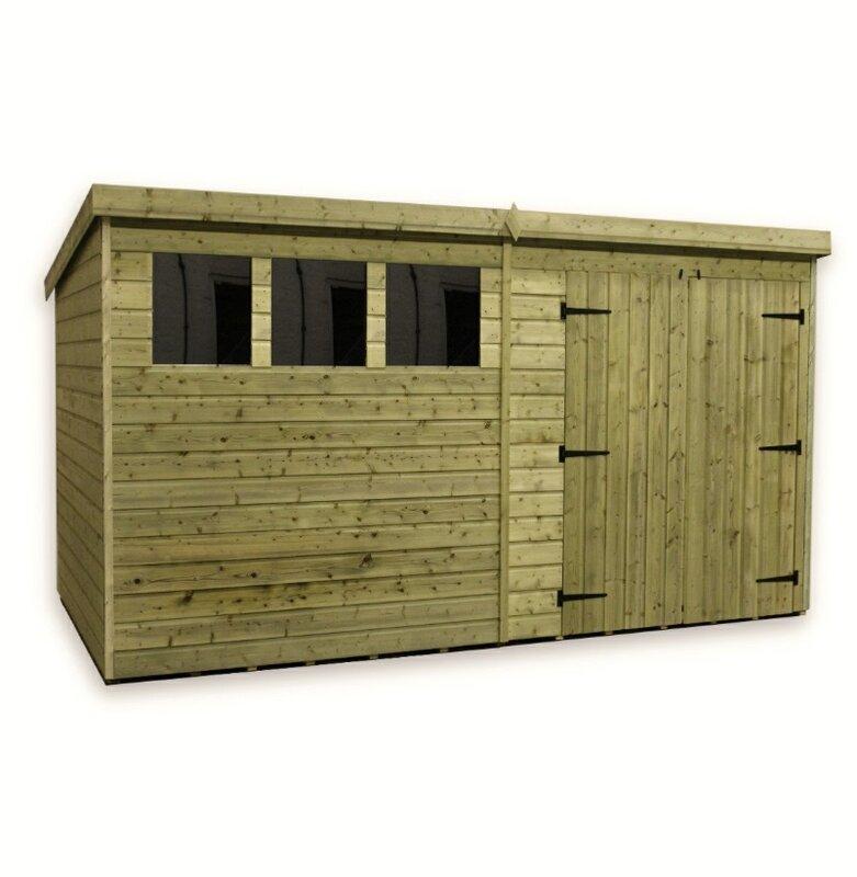 12 x 8 wooden garden shed - Garden Sheds Ripley