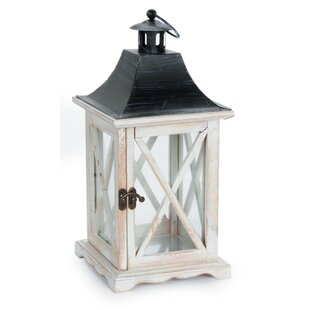 Inexpensive Wood Lantern By August Grove