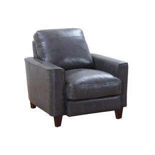 17 Stories Izaiah Top Grain Leather Club Chair