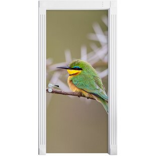 Colourful Exotic Bird On Branch Door Sticker By East Urban Home