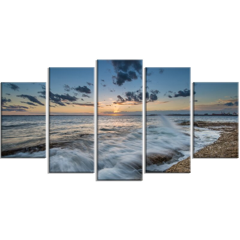 Designart Sydney Sunset At La Per House 5 Piecewall Art On Wrapped Canvas Set Wayfair