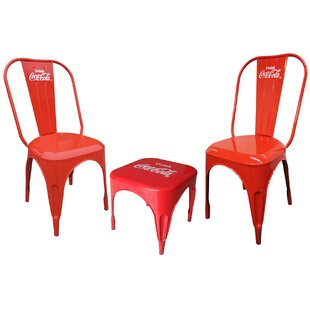 Coca-Cola Retro Caf? 3 Piece Bistro Set b..