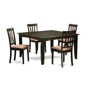Pilning 5 Piece Extendable Solid Wood Dining Set by August Grove Read Reviewst