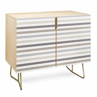 Linen Stripes Accent Cabinet by East Urban Home