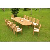 Homewood 13 Piece Teak Dining Set