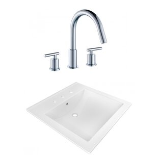 Find Ceramic Rectangular Drop-In Bathroom Sink with Faucet and Overflow By American Imaginations