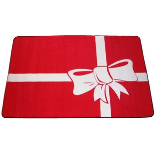 Price comparison Cisneros Present Holiday Red/White Area Rug By The Holiday Aisle