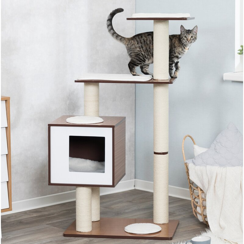 Grote Side Table.48 Grote Wooden Cat Tree