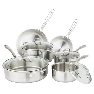 Chopped Champion 10 Piece Stainless Steel Cookware Set