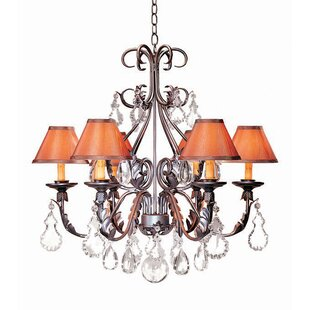 French Elegance 6-Light Shaded Chandelier by 2nd Ave Design
