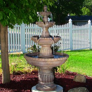 Superieur Fiberglass/Resin Mediterranean 4 Tiered Outdoor Water Fountain