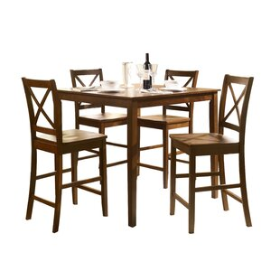 Forest Hill 5 Piece Counter Height Solid Wood Dining Set Comparison