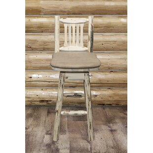Abordale 30 Swivel Bar Stool Loon Peak