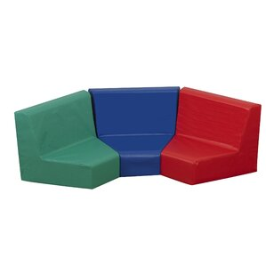 Primary 3 Piece Kids Seating Modular Set (Set of 3) by Children's Factory
