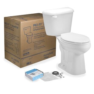 Mansfield Plumbing Products Pro-Fit 3 1.28 GPF Elongated Two-Piece Toilet