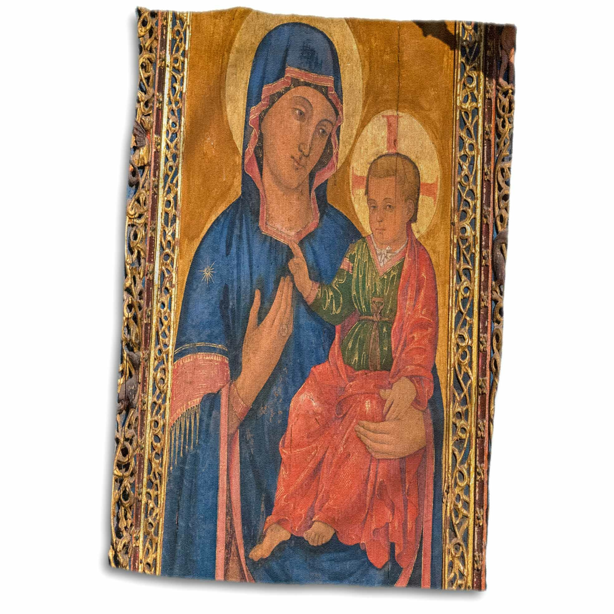 East Urban Home Caroline Spain Salamanca Madonna And Child Painting In Cathedral Hand Towel Wayfair
