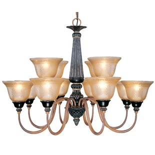 Classic Lighting Vintage 12-Light Shaded Chandelier