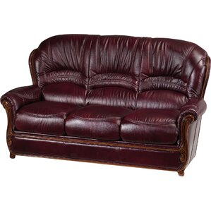 Leslie Leather Sofa by Fleur De Lis Living