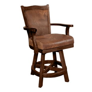Goldfield 24 Swivel Bar Stool Loon Peak