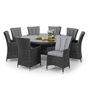 Trevethan 8 Seater Dining Set With Cushions By Sol 72 Outdoor