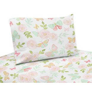 Butterfly Floral Sheet Set