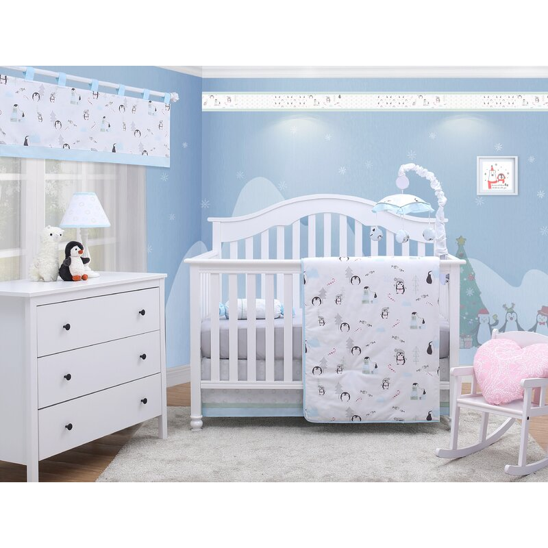 cot sheet bed sheet for baby fitted sheet baby crib sheet Lovely Penquins Bed Sheet S