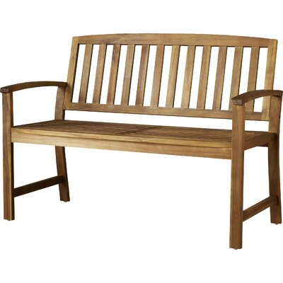Beachcrest Home Leora Acacia Wood Garden Bench Color: Teak