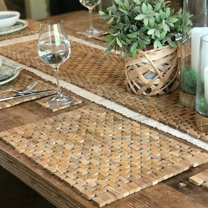Recycled Teak Placemat Set (Set of 2)