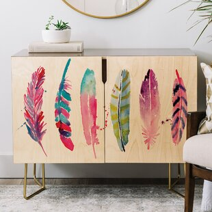 Karen Feather Credenza by East Urban Home Best