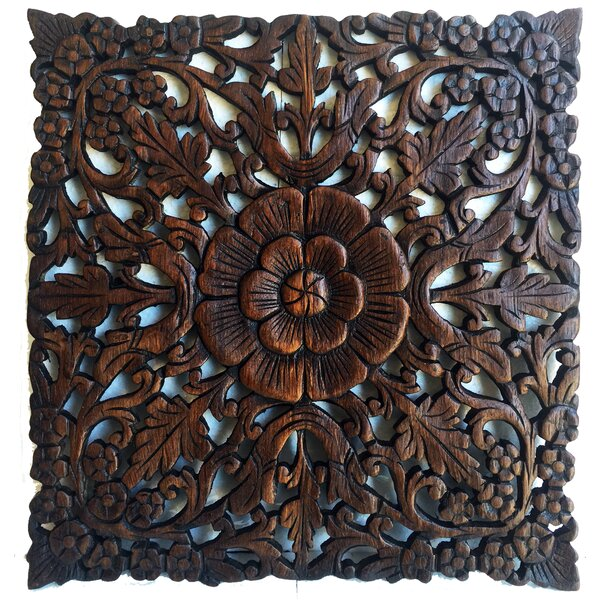 Carved Teak Wall Art Wayfair